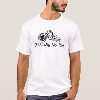Camiseta Os pintinhos escavam meu passeio