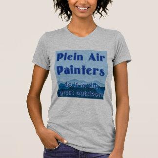 Camiseta Os pintores do ar de Plein fazem-no no excelente