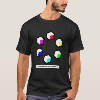 Camiseta Os pixéis fazem o mundo circundar