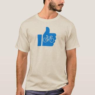 Camiseta Os polegares levantam o ciclismo
