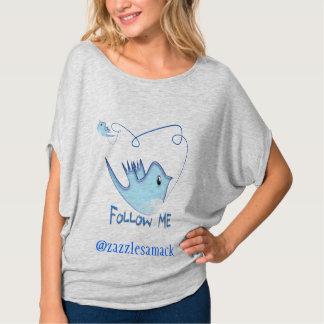 Camiseta Os presentes do Twitter com seu nome de usuário