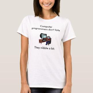 Camiseta Os programadores de computador não fazem byte