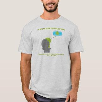 Camiseta Os programadores de software pensam sobre o