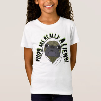 Camiseta os pugs são realmente aliens