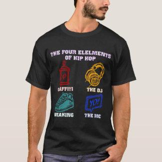 Camiseta Os quatro elementos de Hip Hop