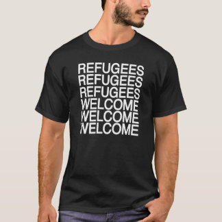 Camiseta Os refugiados dão boas-vindas ao t-shirt