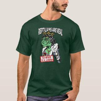 Camiseta Os Reptilians são reais - a rainha é um lagarto
