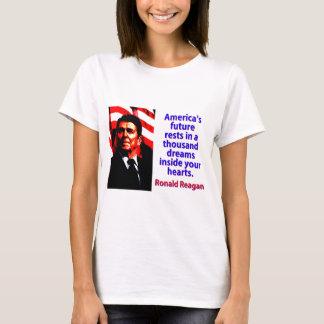 Camiseta Os restos futuros de América - Ronald Reagan