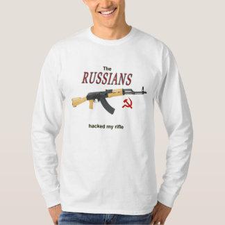 Camiseta Os russos cortaram meu rifle!