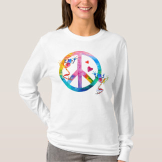 Camiseta Os sapos de árvore 4 senhoras da paz sleeved por