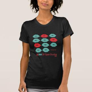 Camiseta Os SF de ArtSpan abrem o preto básico das mulheres