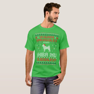Camiseta Os Snuggles Shiba Inu afagam a camisola feia do