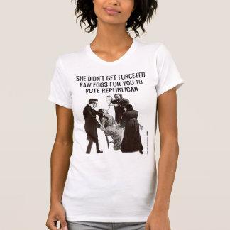 Camiseta Os Suffragettes não votariam o republicano