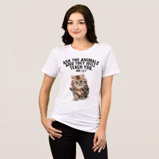 Camiseta Os t-shirt CRISTÃOS do CAT, pedem aos animais o