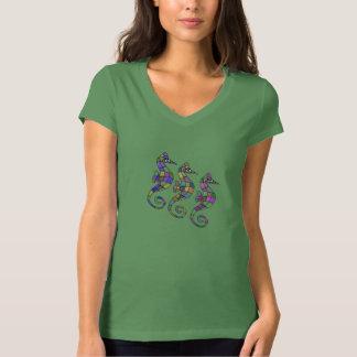 Camiseta Os t-shirt do arco-íris do cavalo marinho