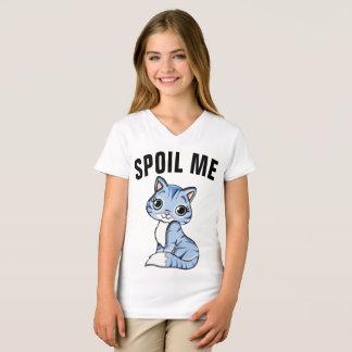 Camiseta Os t-shirt do CAT para miúdos, ESTRAGAM-ME