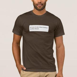 Camiseta os @tapps são meu amigo lésbica simbólico do