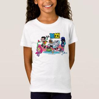Camiseta Os titã adolescentes vão! aproximações Tentacled