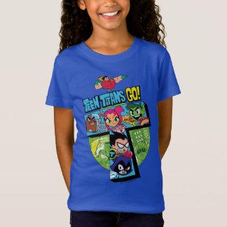 Camiseta Os titã adolescentes vão! colagem da torre dos