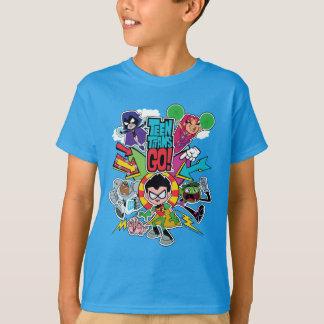 Camiseta Os titã adolescentes vão! gráfico da seta da