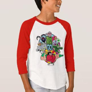 Camiseta Os titã adolescentes vão! gráfico do grupo da
