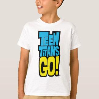 Camiseta Os titã adolescentes vão! logotipo de  