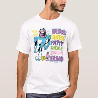 Camiseta Os titã adolescentes vão! rap do hamburguer do