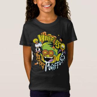Camiseta Os titã adolescentes vão! Waffles do menino do