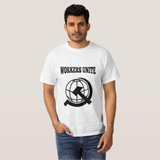 Camiseta Os trabalhadores unem-se