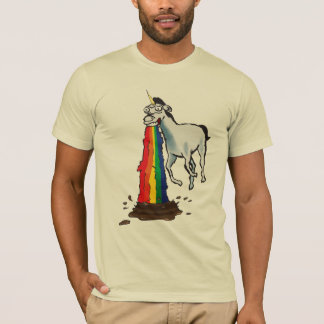 Camiseta Os unicórnios Puke arcos-íris
