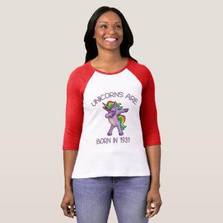 Camiseta Os unicórnios são em 1931 pose de toque ligeiro