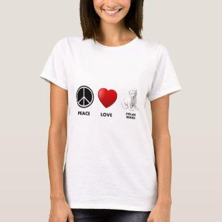 Camiseta os ursos polares do amor da paz salvar os ursos