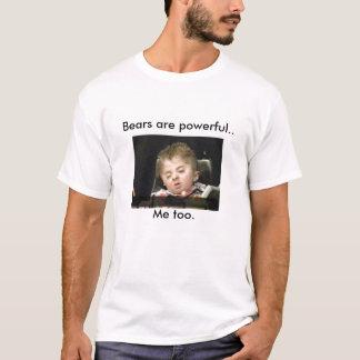 Camiseta os ursos, ursos são poderosos. , Imitação. -