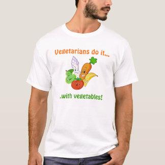 Camiseta Os vegetarianos fazem-no…,… com vegetais!