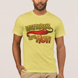 Camiseta Os vegetarianos são t-shirt americano básico
