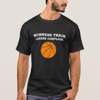 Camiseta Os vencedores trem, vencidos queixam-se t-shirt do