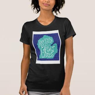 Camiseta Os verões são feitos nos grandes lagos - azul