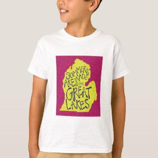 Camiseta Os verões são feitos nos grandes lagos - miúdos!