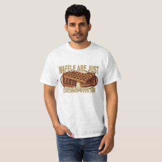 Camiseta Os Waffles são apenas panquecas com Abs.