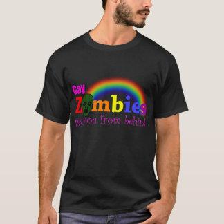 Camiseta Os zombis alegres obtêm u de atrás
