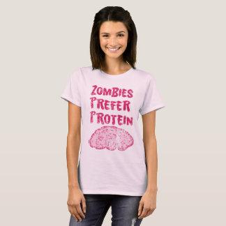 Camiseta Os zombis do vintage preferem a proteína