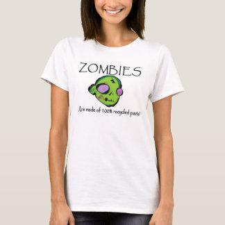 Camiseta Os zombis são feitos das peças do reciclado de