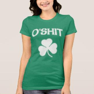 Camiseta O'Shit bonito St Patrick engraçado irlandês