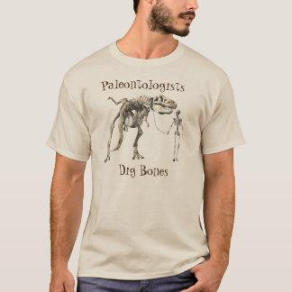 Camiseta Ossos da escavação dos Paleontologists