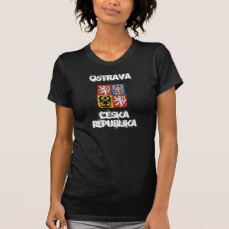 Camiseta Ostrava, república checa com brasão