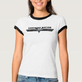 Camiseta otimista básica da nação das mulheres