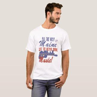 Camiseta Ouça a música de Nashville do t-shirt de Maine