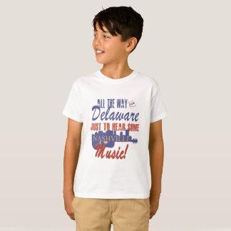 Camiseta Ouça a música de Nashville do t-shirt do miúdo de