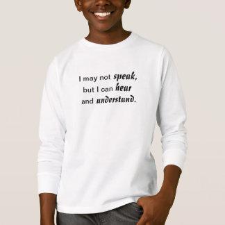 Camiseta Ouça e compreenda