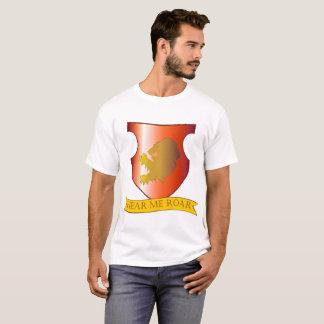 Camiseta Ouça-me rujir o t-shirt do valor dos homens